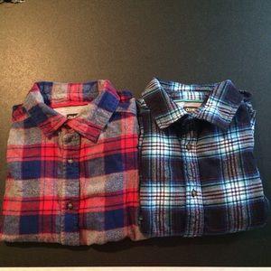 Boy's OshKosh Flannel Shirts Size 10/12